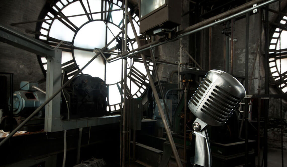 inside of a clock tower